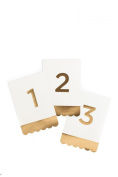 My Mind's Eye Fancy Table Numbers, Ivory and Gold, Numbers 1-24