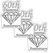 60TH ANNIVERSARY DIAMOND DECO FETTI