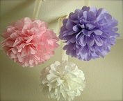 Fonder Mols® 9pcs Mixed Sizes 20cm 25cm 36cm Tissue Paper Pom Poms Flower Wedding Party Baby Girl Room Nursery Decoration