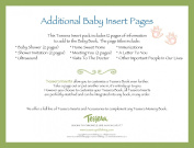 Tessera Baby Books Baby Memory Book Insert Pack, Additional Baby Pages