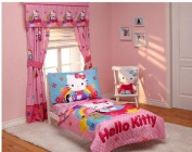 Hello Kitty Stars and Rainbows 4-piece Toddler Bedding Set by Sanrio