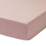 Petit Nest Pink Fitted Crib Sheet, Penelope and Chloe Collection