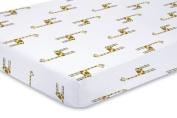 aden + anais classic crib sheet, jungle jam - giraffe by aden + anais