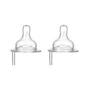 Thinkbaby Stage B Nipple with Vent (6-12 Months) - 2 Pack by Thinkbaby