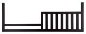 Westwood Design Pine Ridge/Stone Harbour Toddler Rail Conversion Kit, Black