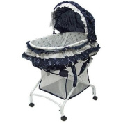 Baby Bassinets Dream on Me Layla 2-in-1 Bassinet to Cradle, Blue Sleepers & Moses Baskets