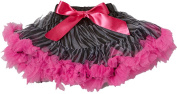Wenchoice Black & Hot Pink Zebra Pettiskirt Girl's