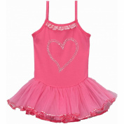Wenchoice Hot Pink Heart Skirted Leotard Girl's