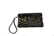 Black Studded Wristlet/Crossbody Handbag