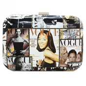 Graphic Box Clutch Purse Magazine Cover Photos Design Dress or Casual Perfect Evening Club Bag