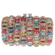 Fawziya® Kiss Lock Clutch Box Purses Rhinestone Evening Bag