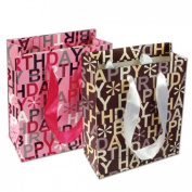 888 Display Happy Birthday Kraft Paper Gift Bags 10 Pcs - Mixed