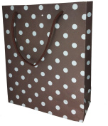 888 Display Polka Dot Kraft Brown Gift, favour, party, wedding, Reveal Bags 10 Pcs