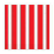 Club Pack of 192 Red & White Stripes 2-Ply Party Disposable Luncheon Napkins