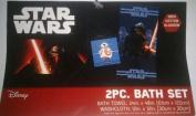 Star Wars,The Force Awakens BB8, kylo Ren 2 pc bath towel set
