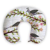 JessPad U-Shape Travel Pillow Birds Falling on the Plum Tree Memory Foam Neck Pillow