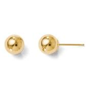14k Yellow Gold 6mm Ball Post Earrings