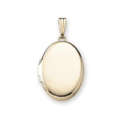 Solid 14k Yellow Gold Oval Locket - Available in 2 Sizes