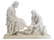 Jesus Washing His Disciple's Feet Statue Sculpture