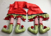 Christmas Elf Legs Table Runner 36cm x 200cm