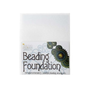 Beadsmith Beading Foundation for Embroidery White 22cm x 28cm