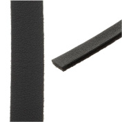 Flat Faux Leather Cord 10x1.3mm - Black - Pack of 1 Metre