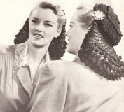 Vintage Crochet PATTERN to make - Snood Hat Cap 1940s hair net. NOT a finished item. This is a pattern and/or instructions to make the item only.