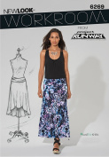 Simplicity Creative Patterns New Look 6269 Misses' Knit Skirt in Two Lengths, A