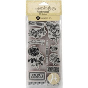 Graphic 45 Cling Stamp, Time to Flourish 2