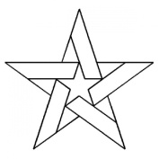 Quilting Creations Five Pointed Star Quilt Stencil, 13cm