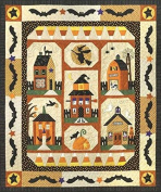 Sew Spooky Fall Autumn Halloween Town Witch Bat Set of 6 Quilt Patterns