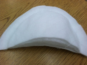 5 Pairs 2.2cm Constructed Set in Batting Centre Stitch Shoulder Pads