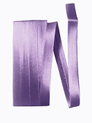Bias Satin Tape ~ 1.3cm Wide Double-fold Bias Tape ~ Violet ~ Poly Cotton (3 Yards / Pack) Set of 4