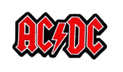 ACDC AD/DC Rock Heavy Metal Punk Music Band Logo Patch Sew Iron on Embroidered Badge Sign Costume Gift
