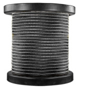 46m Spool - Rayon Antique Wire - Black - 18/2 SPT-1 - Parallel Cord