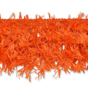Expo International Hairy Gimp Fringe Trim, 10-Yard, Orange