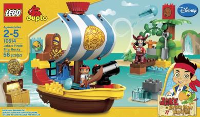 LEGO DUPLO Jakes Pirate Ship Bucky (56pcs) Figures Building Block Toys