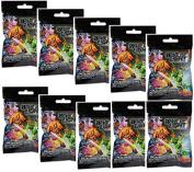 10 (Ten) Boosters Packs of DC Comics Dice Masters