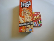 Test your stacking with Classic Jenga and go wild with Uno game set