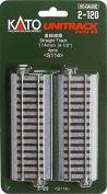 Kato 2-120 HO Unitrack 114mm 4 1/2in Straight 4pcs