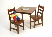 Child's Square Table and 2 Chairs Set, Cherry finish