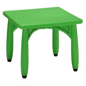 Cozy4Kids Picnic Indoor/Outdoor Plastic 60cm Square Kid Playroom Table, Screamin Green