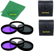 2pcs 52mm Multi-Coated 3 Piece Filter Kit (UV + CPL + FLD) + ZeeTech Microfiber Cleaning Cloth for Nikon Digital SLR Camera Lenses That Have 52mm Thread