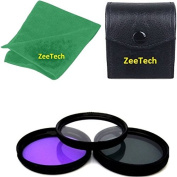 52mm Multi-Coated 3 Piece Filter Kit (UV + CPL + FLD) + ZeeTech Microfiber Cleaning Cloth for Nikon Digital SLR Camera Lenses That Have 52mm Thread