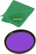 58mm ZeeTech Fluorescent Light FLD Filter + ZeeTech Microfiber Cleaning Cloth for Canon Digital SLR Camera Lenses That Have 58mm Thread