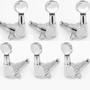 Musiclily 3+3 Kidney Button Guitar Sealed Tuners Tuning Key Pegs Machine Head Set,Chrome