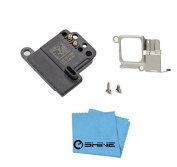 EShine® Ear Speaker Earpiece Replacement + Bracket (Holder) + 2 Screws for Iphone 5C A1456, A1507, A1516, A1529, A1532 (ALL CARRIERS) + EShine® Cloth