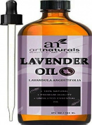 Art Naturals Lavender Essential Oil 120ml - Pure Therapeutic Grade from Bulgaria - Best Premium Quality used for Aromatherapy and Massage