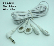 DC 3.5mm Electrotherapy Tens/ems Lead Wires 4 in 1 Electrode Wire/cable Connecting Wire with 3.5 Snap Hole for Tens Ems Machine