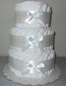 Decorate It Yourself 3 Tier Plain Nappy Cake 75 Nappies